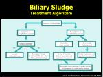 biliary sludge treatment algorithm