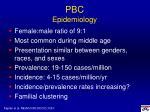 pbc epidemiology