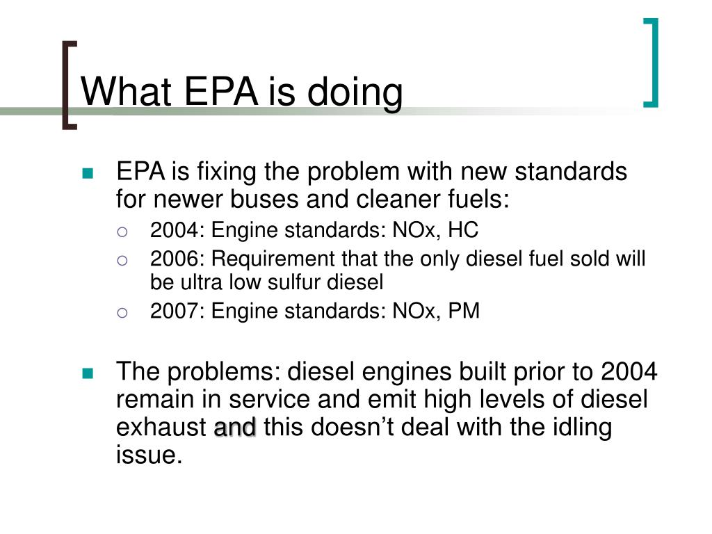 What EPA is doing