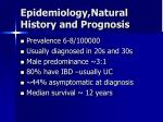 epidemiology natural history and prognosis