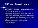 psc and bowel cancer