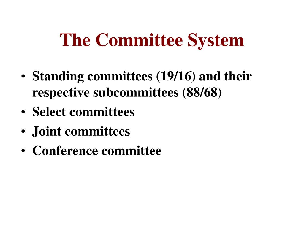 the committee system in congress why