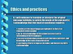 ethics and practices