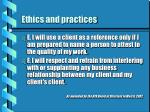 ethics and practices21