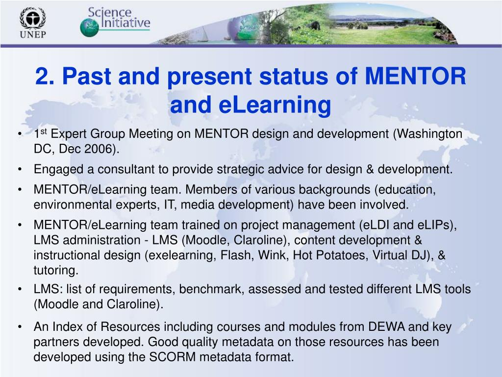 2. Past and present status of MENTOR
