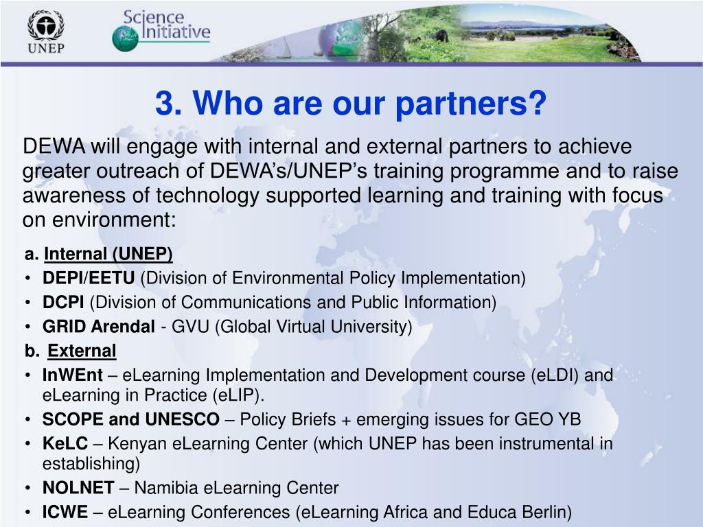 3. Who are our partners?