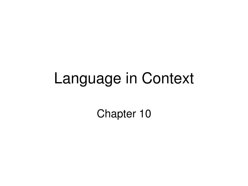language in context l.