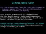 evidence against fusion48
