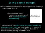 so what is it about language34