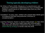 testing typically developing children