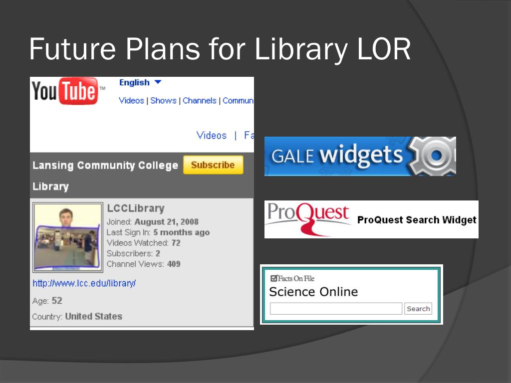 Future Plans for Library LOR