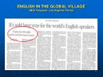 english in the global village niall ferguson los angeles times
