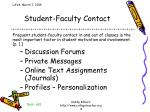 student faculty contact