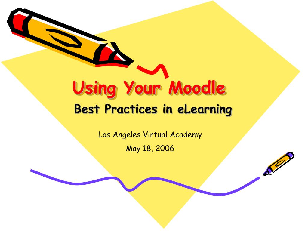 using your moodle l.