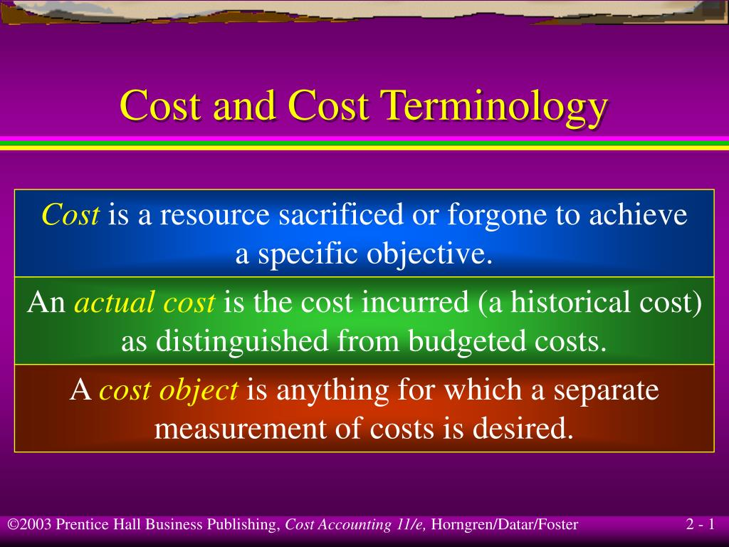 cost and cost terminology l.