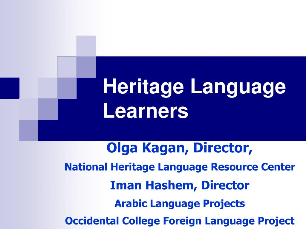 heritage language learners l.