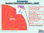 subcontracting mandatory subcontracting minimum msm
