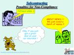subcontracting penalties for non compliance