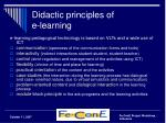didactic principles of e learning