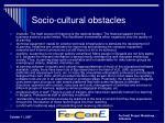 s ocio cultural obstacles