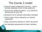 the course 3 model