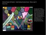 abstract design oil pastels jaime rodrigo gonzales garcia mexico age 10 milagro center