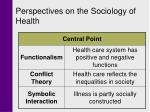 perspectives on the sociology of health