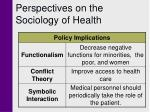 perspectives on the sociology of health9