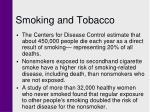 smoking and tobacco