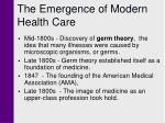 the emergence of modern health care