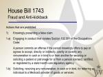 house bill 1743 fraud and anti kickback