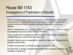 house bill 1743 investigations of falsification of records