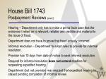 house bill 1743 postpayment reviews cont