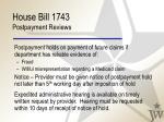 house bill 1743 postpayment reviews