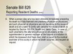 senate bill 826 reporting resident deaths cont24