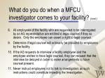 what do you do when a mfcu investigator comes to your facility cont37