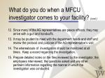 what do you do when a mfcu investigator comes to your facility cont38