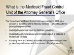 what is the medicaid fraud control unit of the attorney general s office