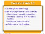 essence of web 2 0