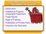 legal implications of social software wang 2006