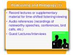 podcasting and pedagogy 1