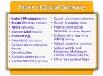 types of social software