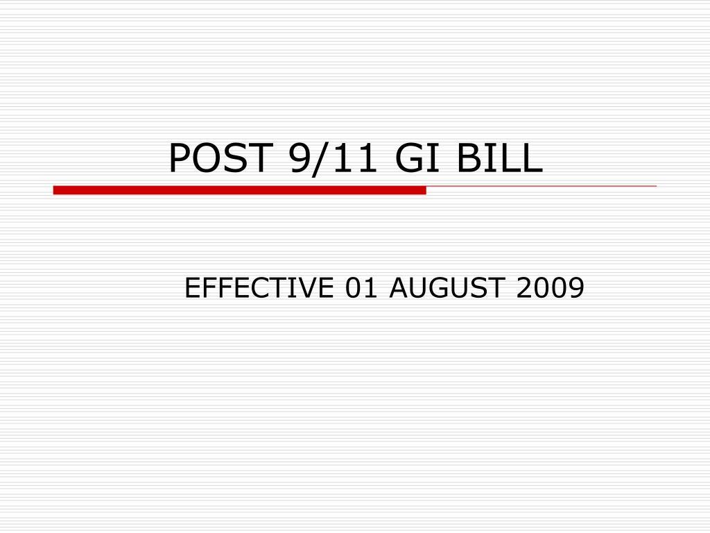 post 9 11 gi bill l.