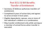 post 9 11 gi bill benefits transfer of entitlement