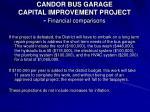 candor bus garage capital improvement project financial comparisons23