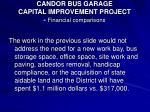 candor bus garage capital improvement project financial comparisons24
