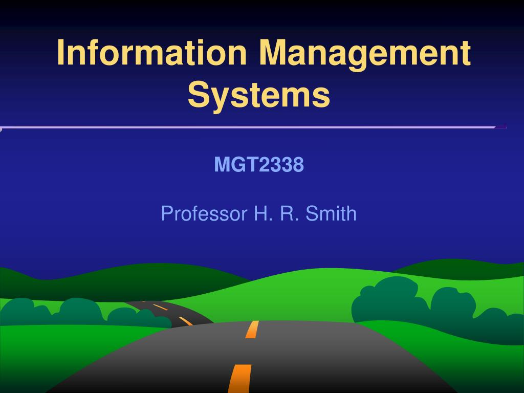 information management systems l.