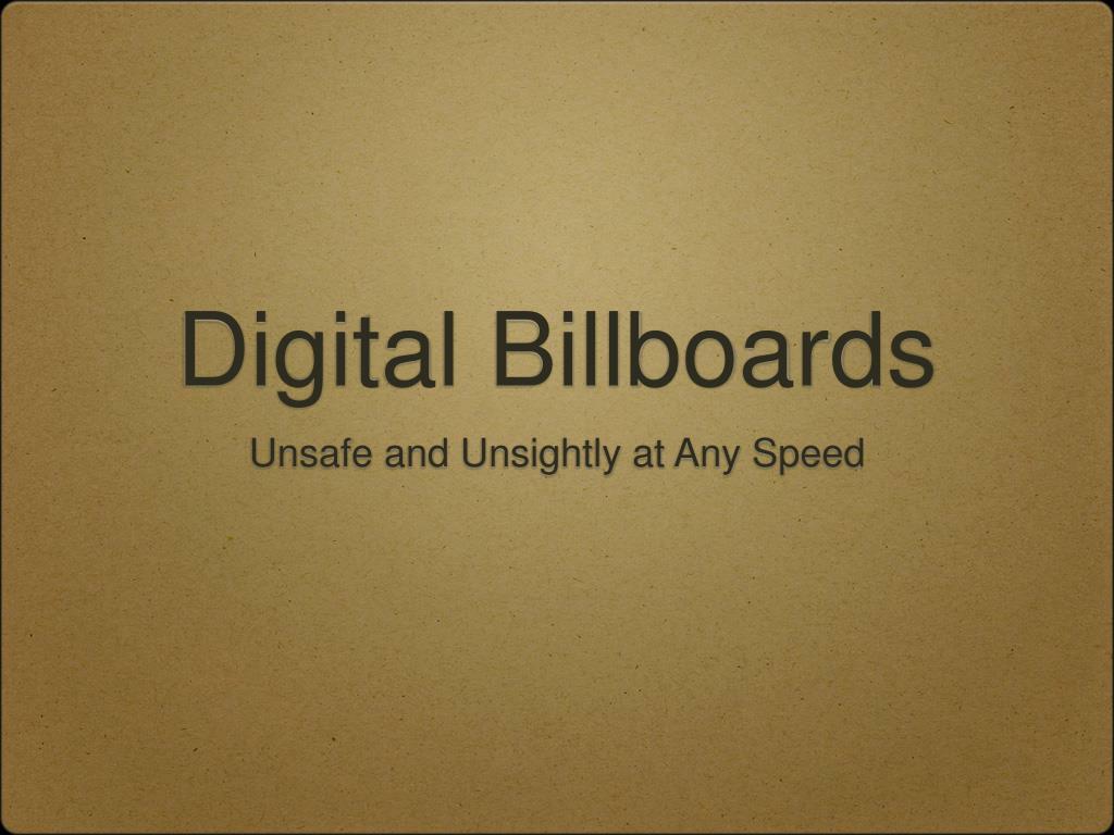 digital billboards l.