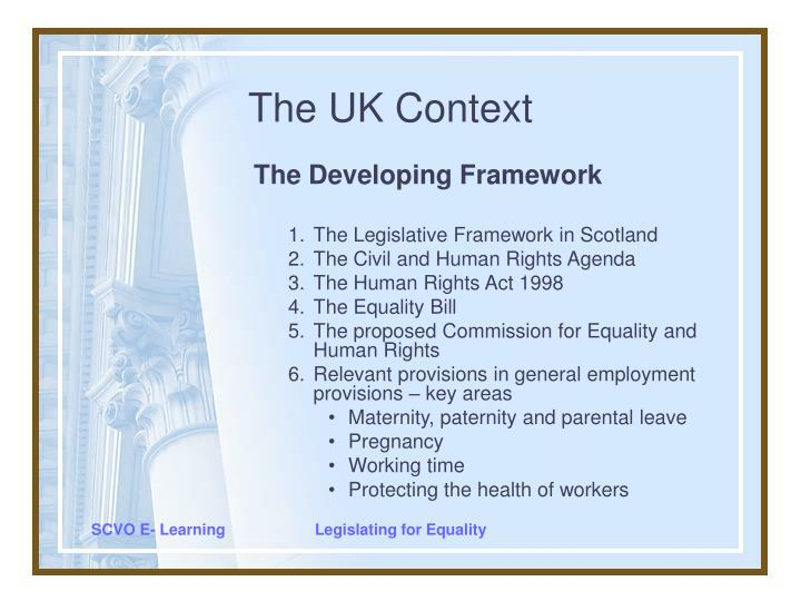 the uk context n.