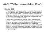 aashto recommendation cont d